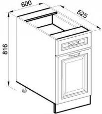 Модуль Н 60 низ кухня Роксана