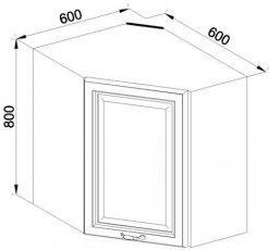 Модуль В 60*60 верх кухня Роксана