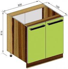 Модуль Н 80 низ кухня Зара