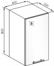 Модуль В 40 верх кухня Вита