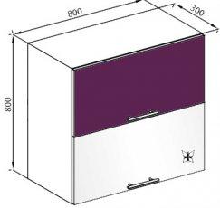 Модуль В 80Б верх кухня Вита