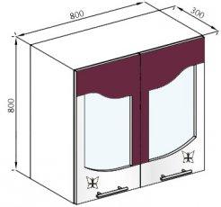 Модуль В 80Ск верх кухня Вита