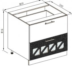 Модуль Н 80Ш Дз низ кухня Нана