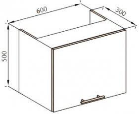 Модуль 60 окап верх кухня Нана