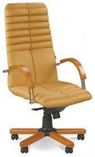 Кресло для руководителя Galaxy wood chrome