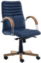 Кресло для руководителя Galaxy wood chrome LB (низкая спинка)