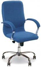 Кресло для руководителя Nova steel LB chrome (низкая спинка)