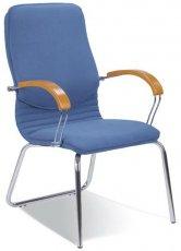 Офисное кресло конференционное Nova wood CFA LB chrome