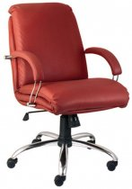 Кресло для руководителя Nadir steel LB chrome(comfort) (низкая спинка)