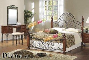 Кровать Onder Metal Metal&Wood DIANA-11 200x180см