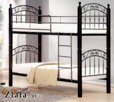 Кровать двухярусная Onder Metal Metal&Wood DD Zlata-03 (Злата-03) 190x90см