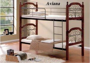 Кровать двухярусная Onder Metal Metal&Wood DD  Aviana (Авиана) 200x90см