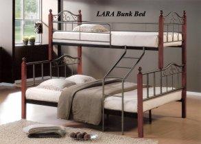 Кровать двухярусная Onder Metal Metal&Wood DD  Lara (Лара) 200x160см и 200x90см