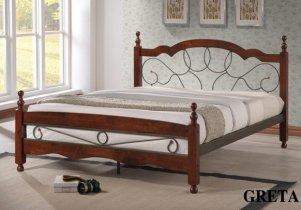 Кровать Onder Metal Metal&Wood Greta (Грета) 200x160см