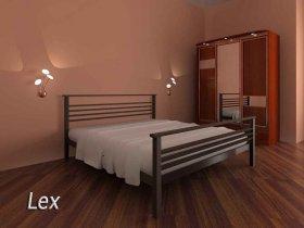 Кровать Lex - ширина 160см с низкой спинкой у ног