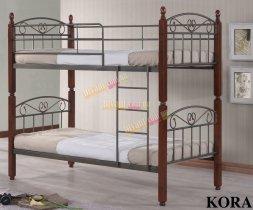 Кровать двухярусная Onder Metal Metal&Wood DD Kora размер 190x90см