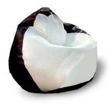 Кресло-Груша Белладжио белая/коричневая