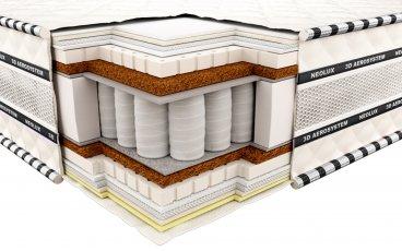 Ортопедический матрас Неолюкс 3D Империал латекс-кокос - ширина 140см