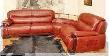 Кожаный угловой диван Далио Артемида