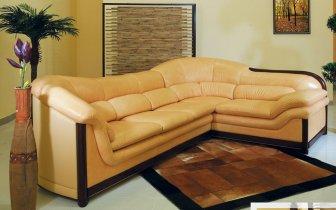 Кожаный угловой диван Каприз