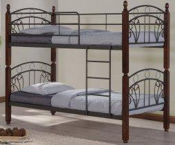 Кровать двухярусная Onder Metal Metal&Wood DD Sofi (Софи) 190x90см