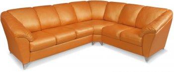Кожаный угловой диван Аматис