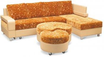 Кожаный угловой диван Эдельвейс