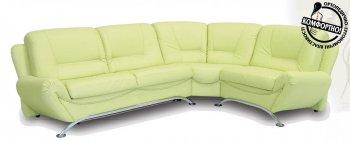 Кожаный угловой диван Саванна - 305x305 см