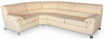 Кожаный угловой диван Карат - 265x228 см