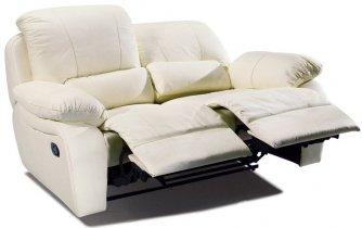 Кожаный диван Alaska 100-29 двойка с двумя реклайнерами