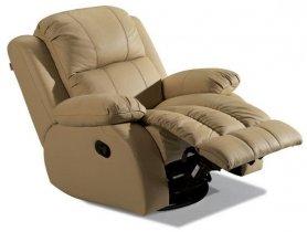 Кожаное кресло Arizona 200-98rs реклайнер + вращение + качание