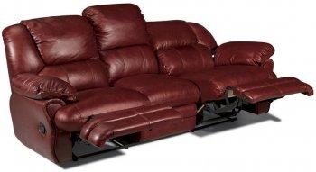 Кожаный диван Indiana 400-39e с двумя электро реклайнерами