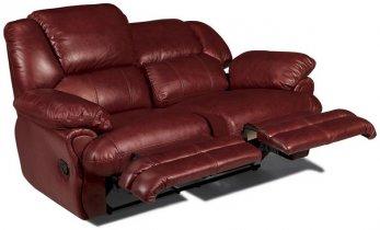 Кожаный диван Minnesota 500-29e с двумя электрическими реклайнерами