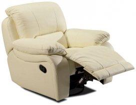 Кожаное кресло California 700-98rs реклайнер + вращение + качание