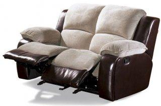Кожаный диван Louisiana 800-29 с двумя реклайнерами