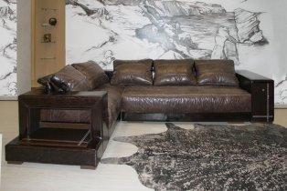 Кожаный угловой диван Кармен