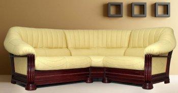 Кожаный угловой диван Монарх 4+угол+4
