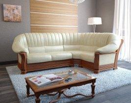 Кожаный угловой диван Монарх 1,5+угол+2