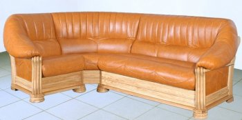 Кожаный угловой диван Монарх 1,5+угол+3
