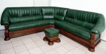 Кожаный угловой диван Монарх 2+угол+2