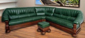 Кожаный угловой диван Монарх 3+угол+3