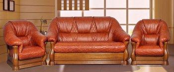 Кожаный диван Маркиз 2