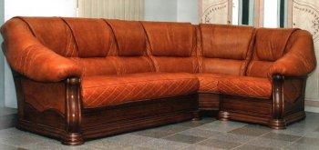 Угловой кожанный диван Маркиз 1+угол+3