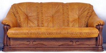Кожаный диван Цезарь 2