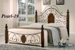 Кровать Onder Metal Metal&Wood Pearl-19 200x160см