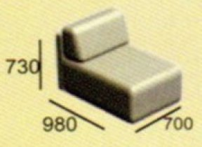 Модуль диван Неаполь М1к