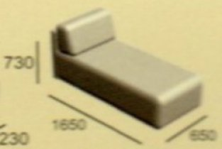 Модуль диван Неаполь От (оттоманка)