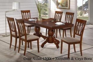 Комплект Стол Aslan + 6 стульев Bora