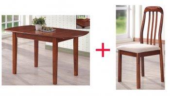 Комплект Стол Santo + 4 стула Adan