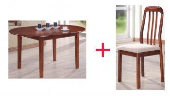 Комплект Стол Gaspar + 4 стула Adan